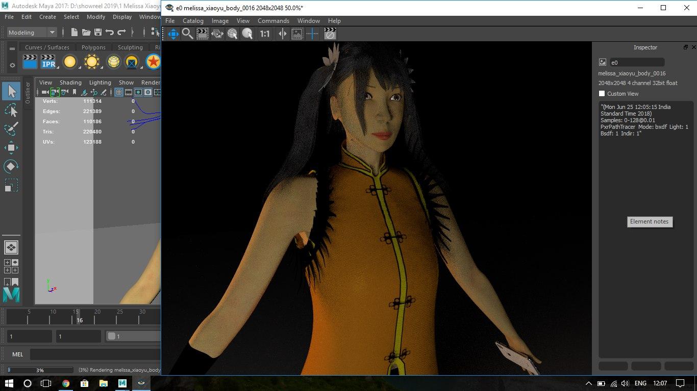 mellisa body 3D model
