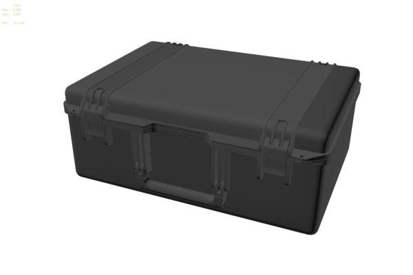 3D model box suitcase equipment