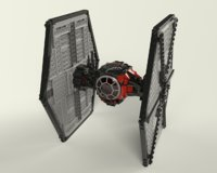 lego order tie fighter model