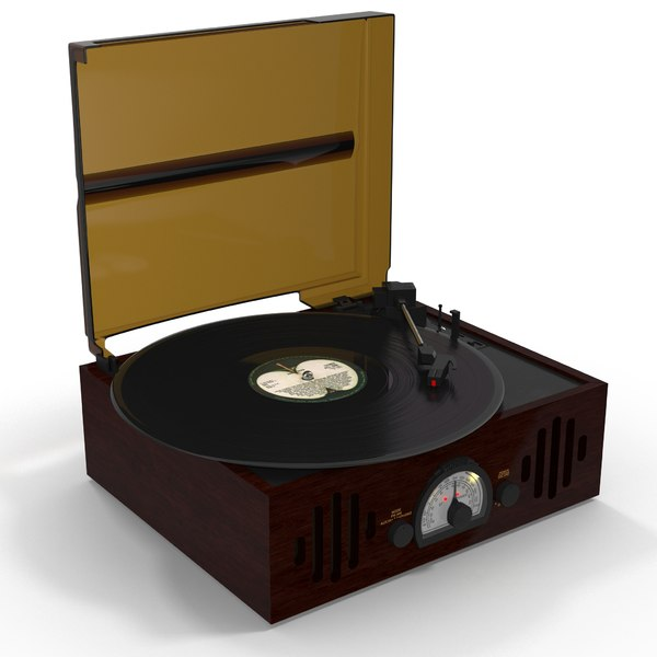 vinyl player 3D