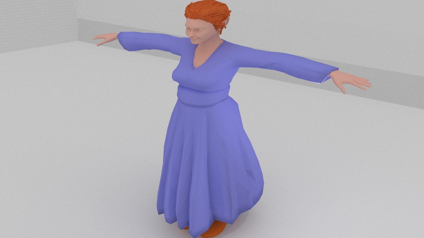3D model female elf