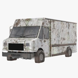 3D real rusted truck model