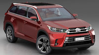 toyota highlander 2018 3D model