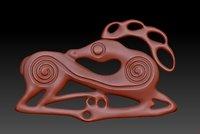 3D scythian stag model