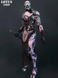 mech robot highpoly 3D model
