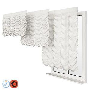 3D roman curtains model