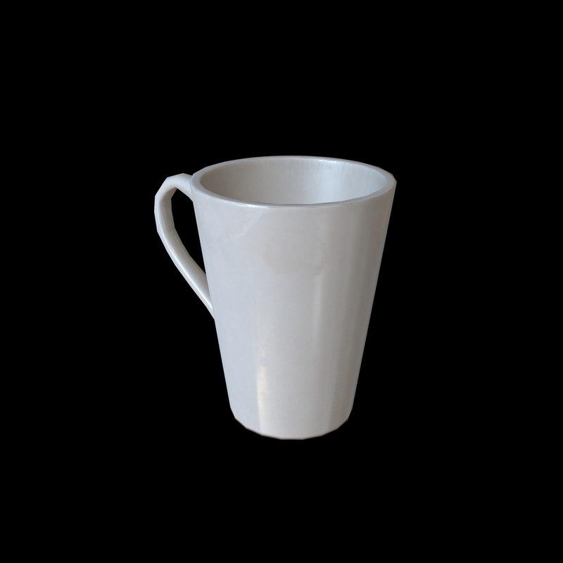 coffee mug using 3D model