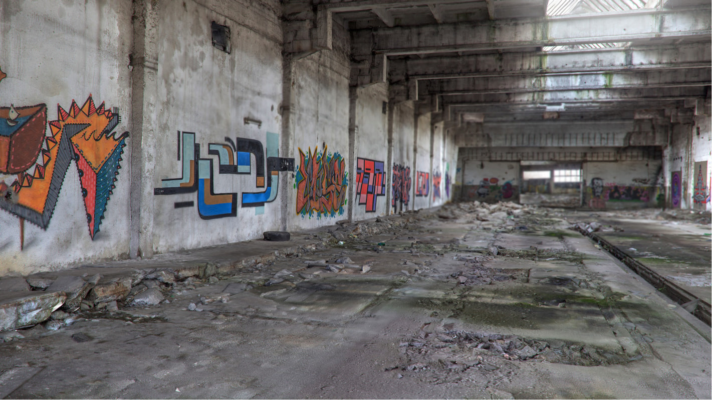 abandoned factory 3D