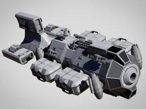 3D space cargo model