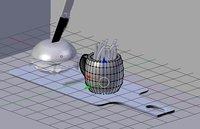 3D model cup burger