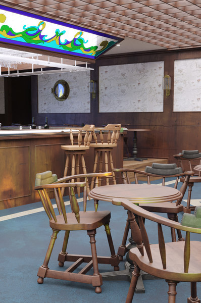 3D pub scene interior