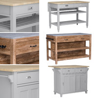 kitchen islands set 2 3D