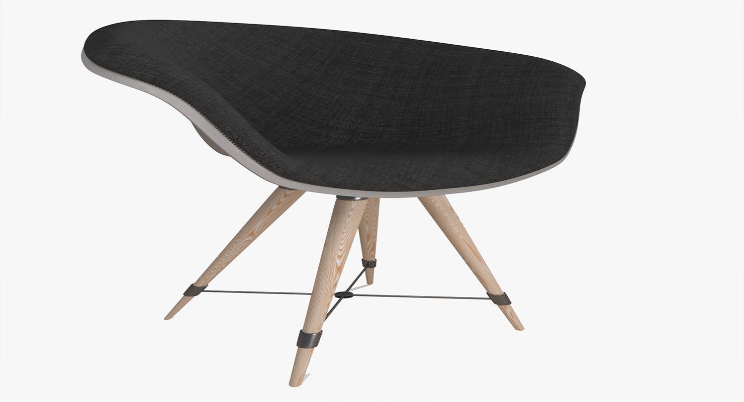 3D model dining chair modern