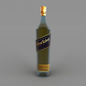 blue label bottle model