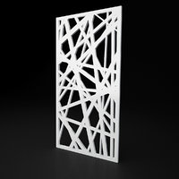 Low-poly CNC panel Lines solid lattice