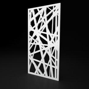 cnc panel lines solid 3D model