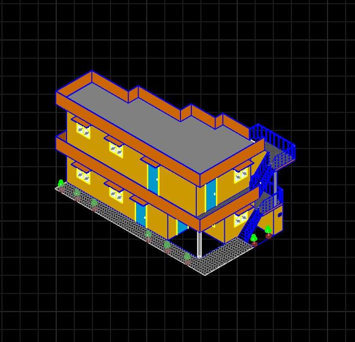 house 2d view model