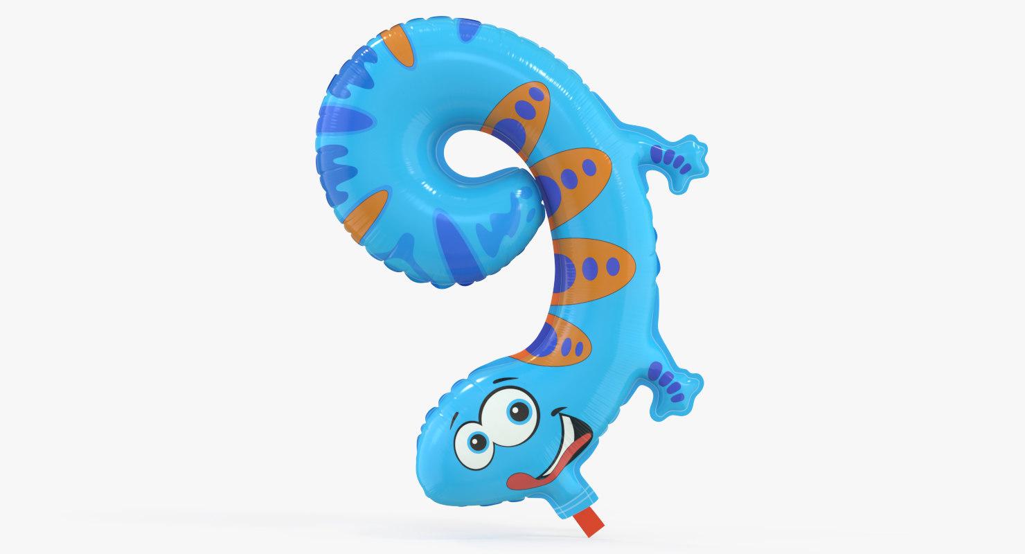 balloon number 3D model