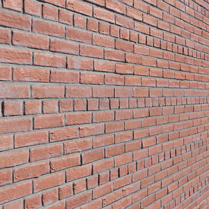 ultra realistic brick wall 3D model