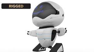 3D model cartoon rigged robot