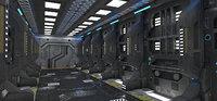 Sci-fi interior block 1