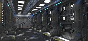 sci-fi interior block 1 3D model