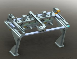3D gantry loading unloading mechanism model