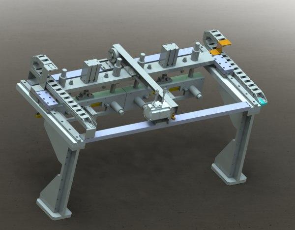 3D gantry loading unloading mechanism model