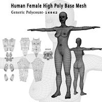 Human Female High Poly Base Mesh