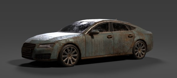 old rusty car 3D model