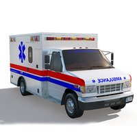 ambulance truck games 3D model