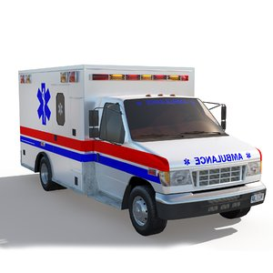 ambulance truck games 3D model