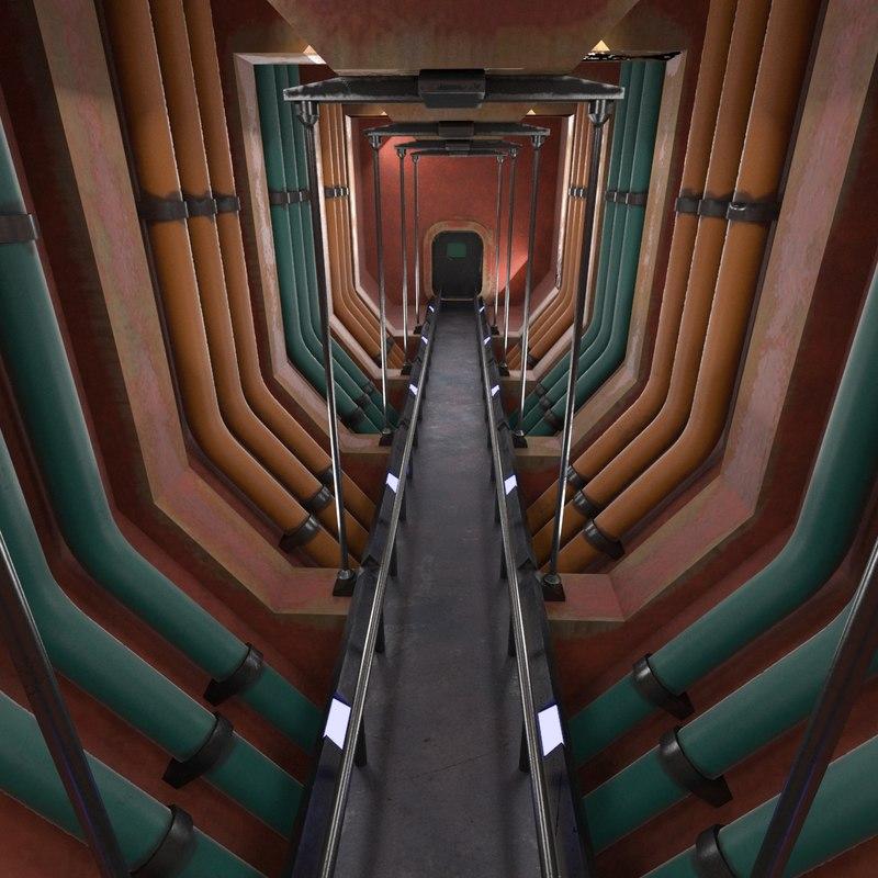 sci-fi interior 3D model
