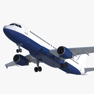3D airbus a320 rigged