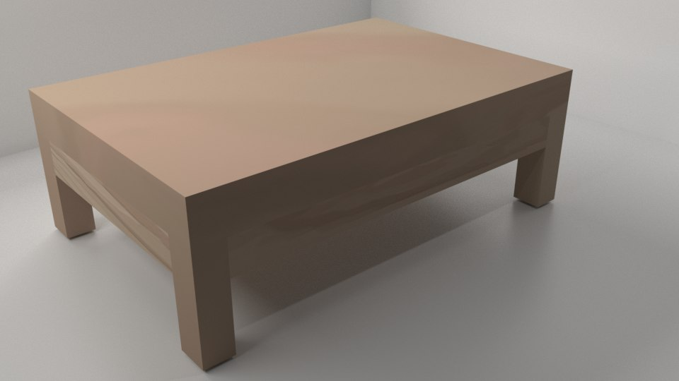 japanese style table 3D model