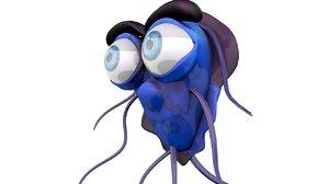 alien virus character model