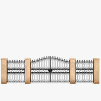 3D model forged gate