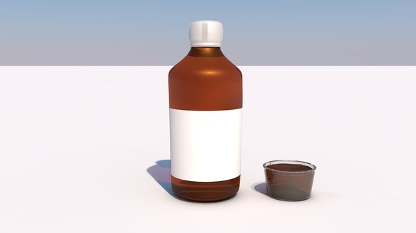 syrup bottle medicine model
