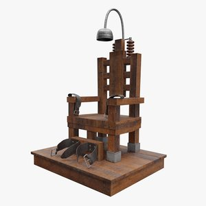 realtime electric chair 3D model