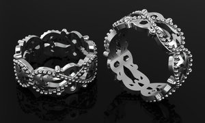 silver gold printing 3D model
