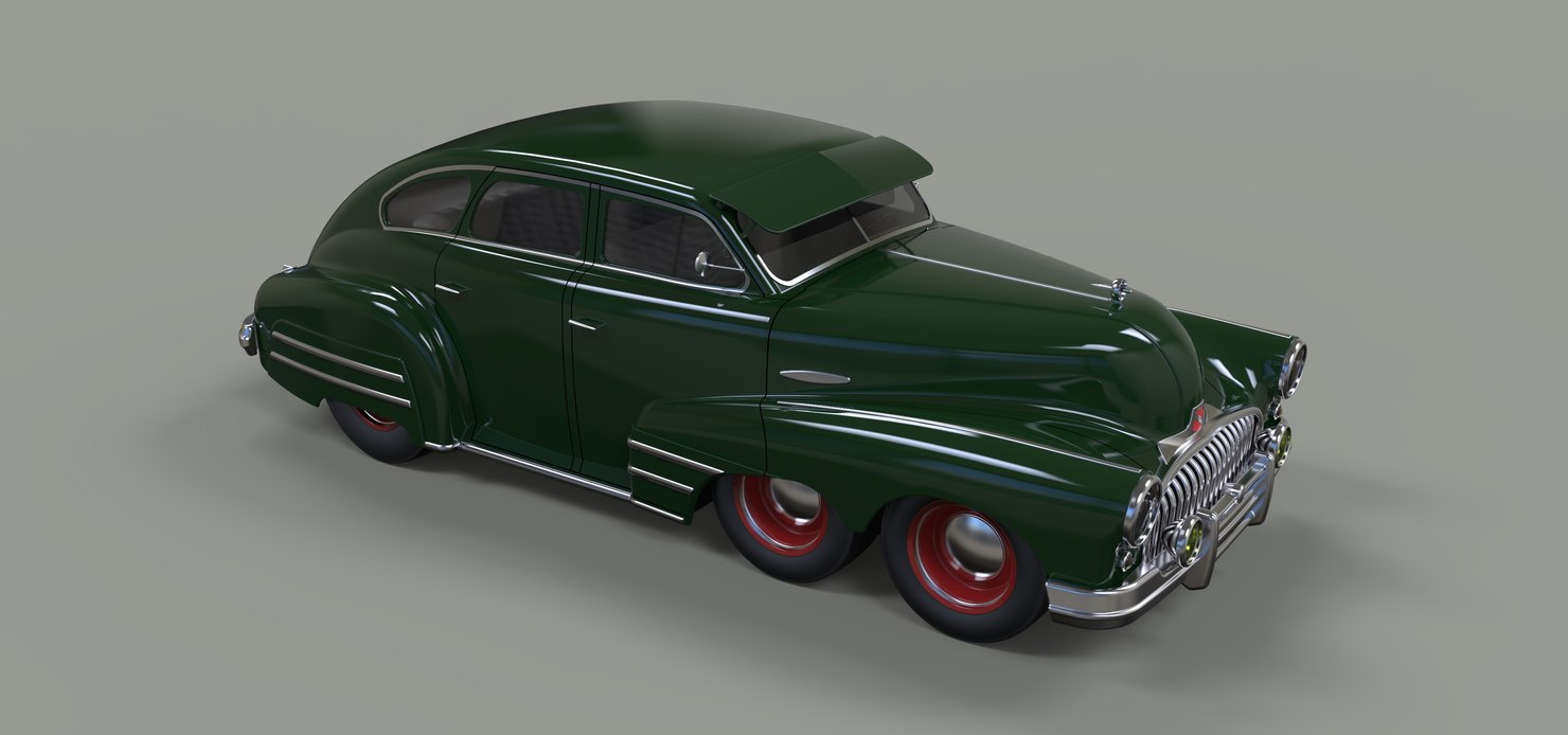 3D concept buick six-wheeled