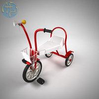 3D model vintage bicycle children
