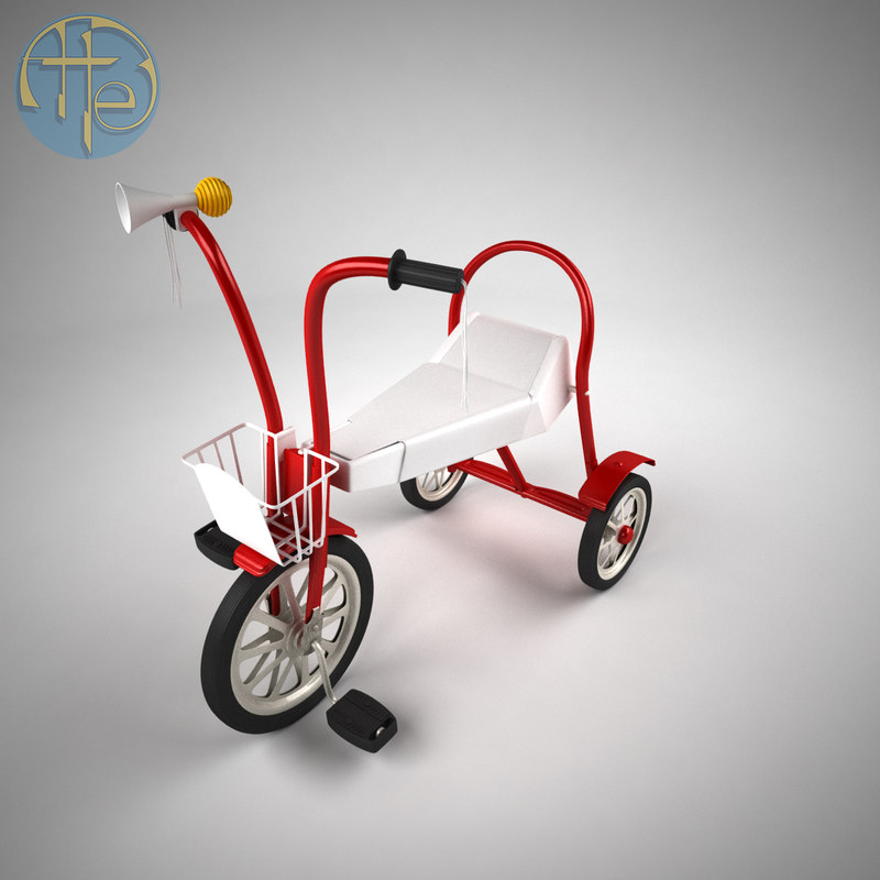 3D model vintage bicycle children