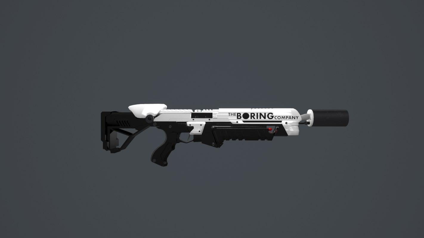 3D boring company flamethrower