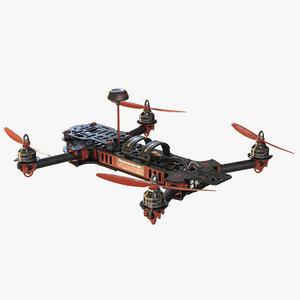 3D racing drone model