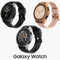 Samsung Galaxy Watch 42mm Midnight Black and 46mm Silver