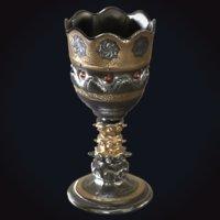 3D medieval goblet 4