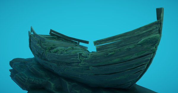galleon shipwreck 3D model