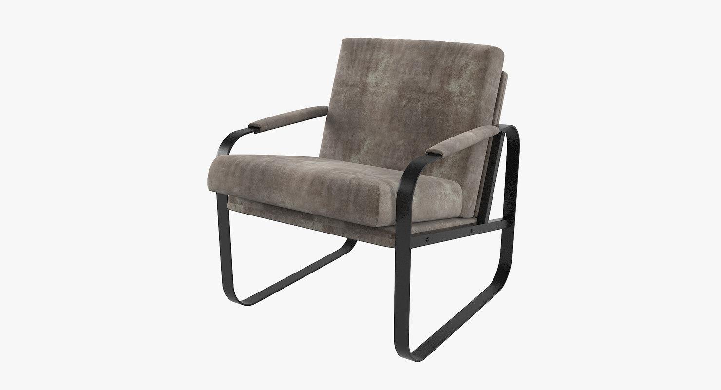 wellige fil chair 3D
