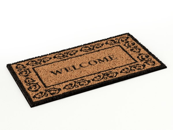 3D door doormat mat